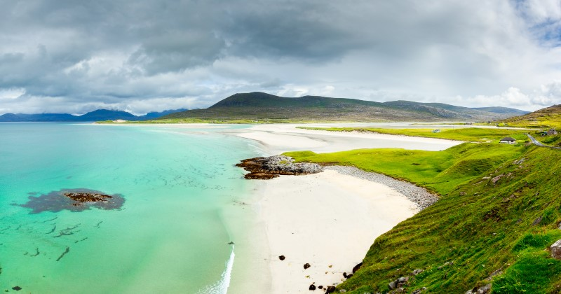 Luskentyre Sands, Isle of Harris in Scotland