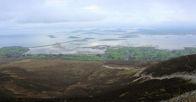 View from Croagh Patrick Ireland