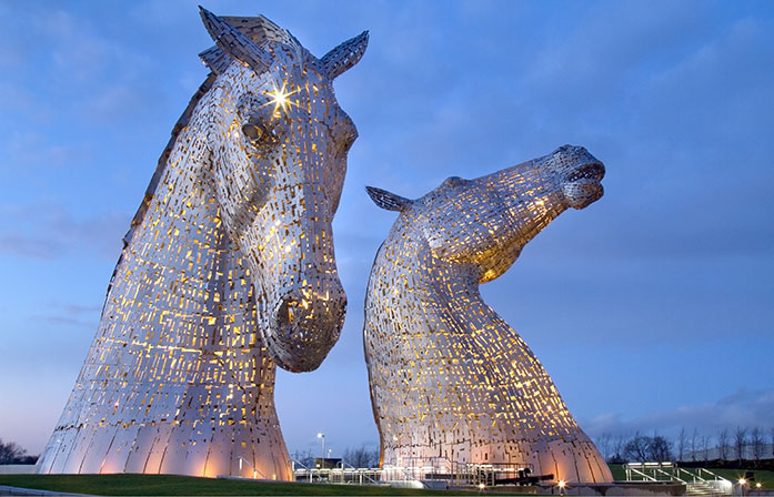 Horse Sculptures of the Kelpies