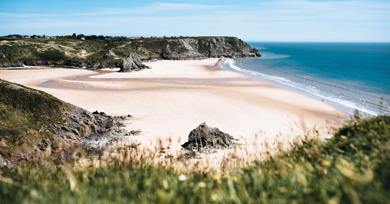 Three Cliffs Bay, Gower Peninsula in Wales