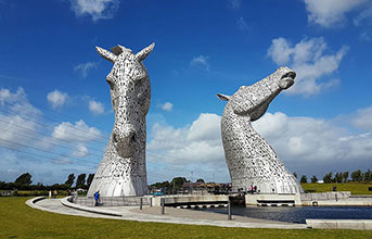 The Kelpies & Falkirk Wheel - half day tour